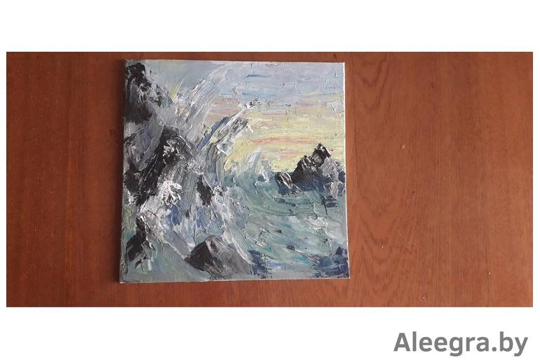 """Картины """"Красный восход"""" и """"Тщетность воды"""""""