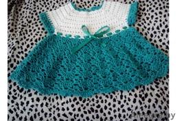 Платья крючком для маленьких девочек