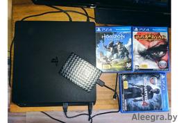 Sony Playstation 4 slim + 3 игры + SEAGATE HDD 1TB