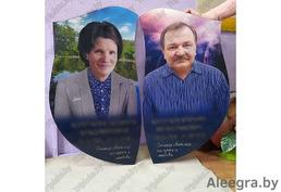 Стеклянные медальоны на памятники и стеклянные памятники от компании tripleks.by