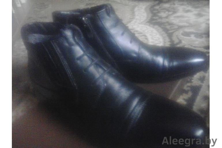 Кожаные ботинки на меху Турция р.40-41